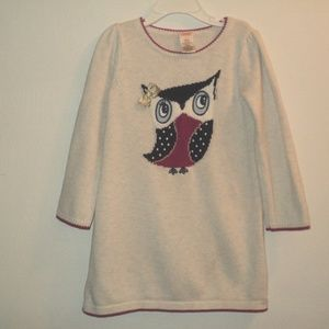 Gymboree Girl's Size 5 Sweater Dress Intarsia Owl